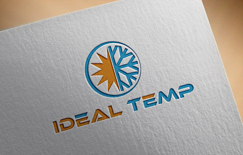 Logo Design by Riday Hassan - Entry No. 75 in the Logo Design Contest Captivating Logo Design for Ideal Temp.