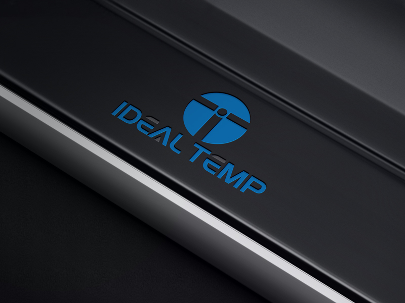 Logo Design by Black Design - Entry No. 76 in the Logo Design Contest Captivating Logo Design for Ideal Temp.