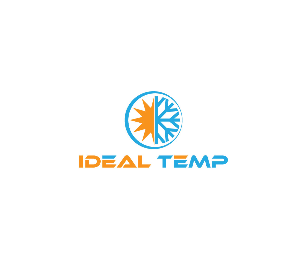 Logo Design by Riday Hassan - Entry No. 77 in the Logo Design Contest Captivating Logo Design for Ideal Temp.