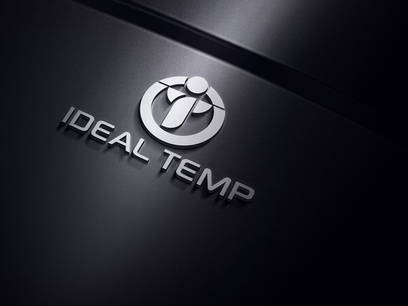 Logo Design by Salah Uddin - Entry No. 93 in the Logo Design Contest Captivating Logo Design for Ideal Temp.
