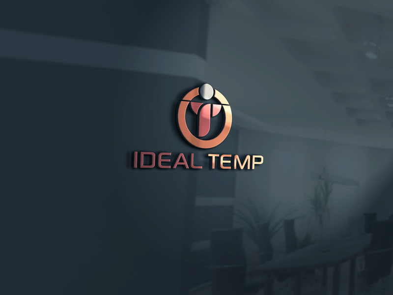 Logo Design by Salah Uddin - Entry No. 96 in the Logo Design Contest Captivating Logo Design for Ideal Temp.
