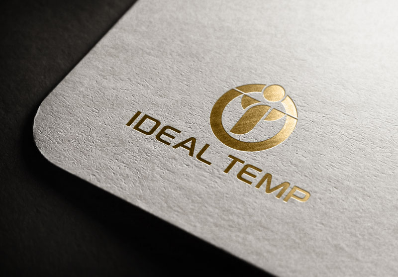 Logo Design by Salah Uddin - Entry No. 102 in the Logo Design Contest Captivating Logo Design for Ideal Temp.