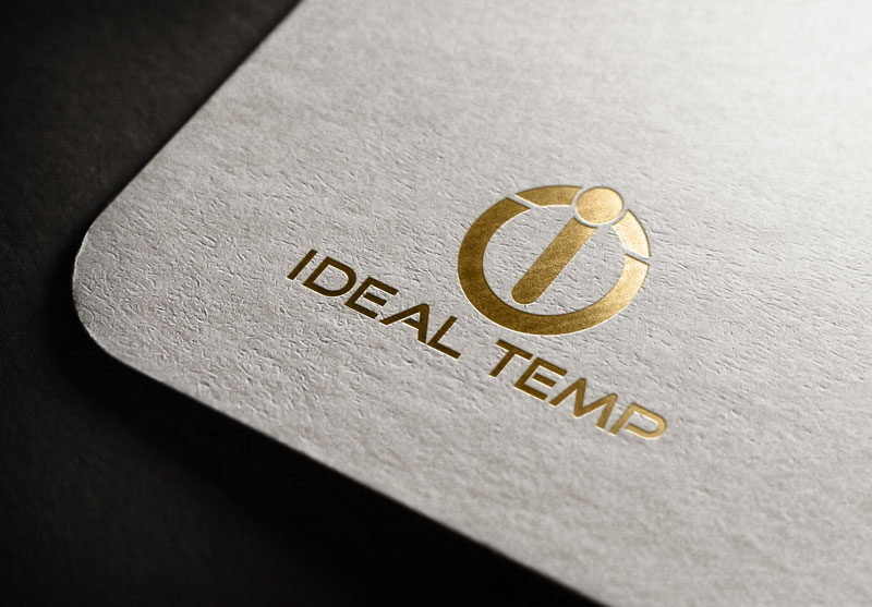 Logo Design by Salah Uddin - Entry No. 106 in the Logo Design Contest Captivating Logo Design for Ideal Temp.