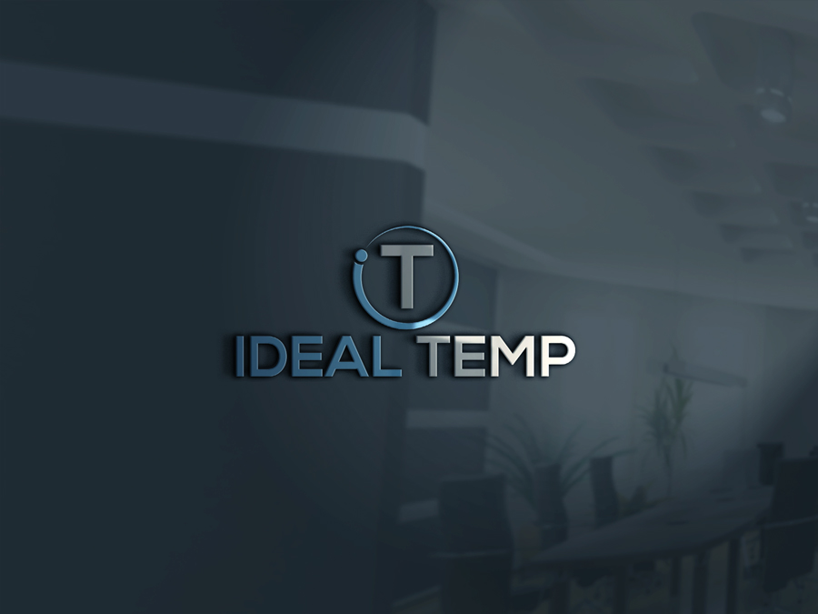 Logo Design by Nur Designer - Entry No. 108 in the Logo Design Contest Captivating Logo Design for Ideal Temp.