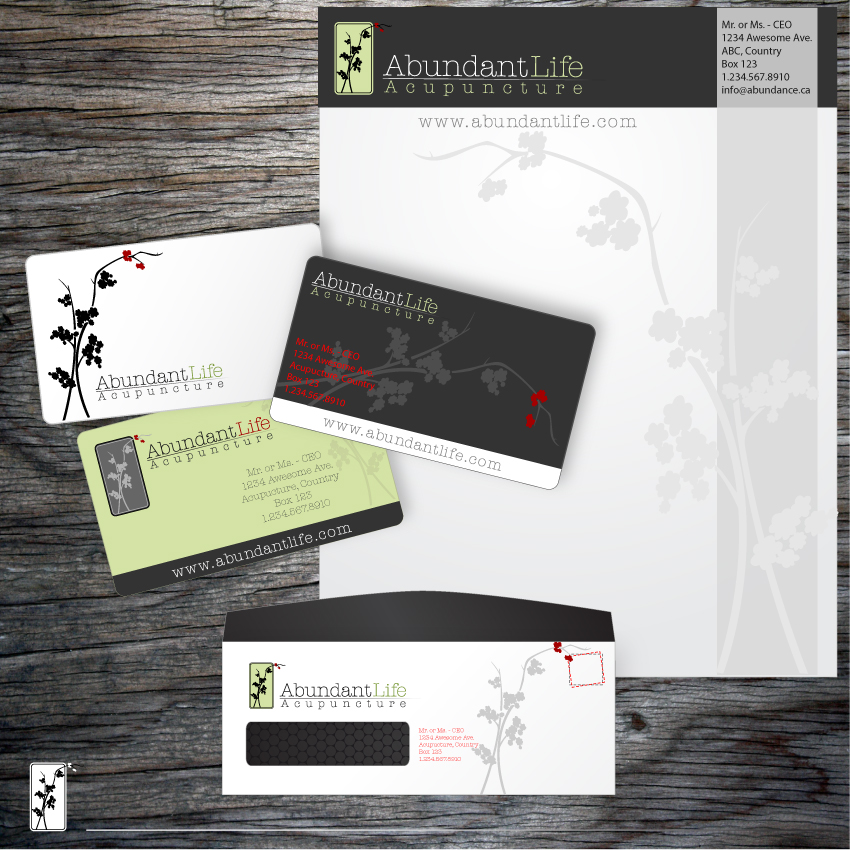 Logo Design by trav - Entry No. 123 in the Logo Design Contest abundant life acupuncture.