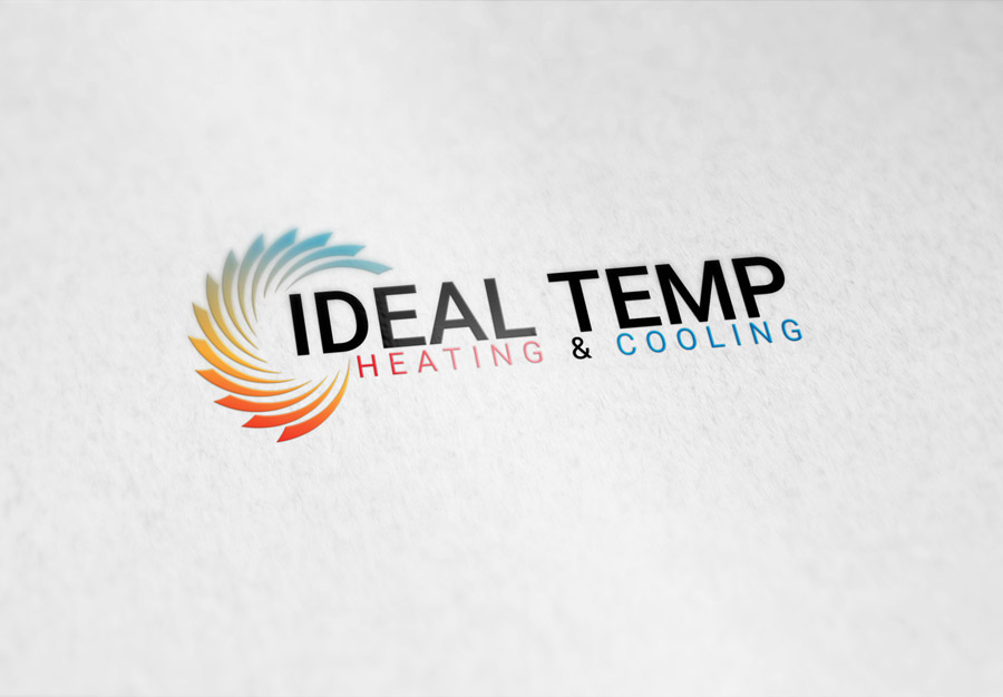 Logo Design by Magic Tools - Entry No. 136 in the Logo Design Contest Captivating Logo Design for Ideal Temp.