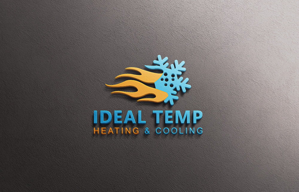 Logo Design by Kamal Hossain - Entry No. 155 in the Logo Design Contest Captivating Logo Design for Ideal Temp.