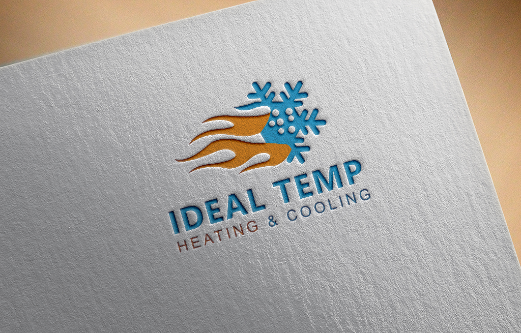 Logo Design by Kamal Hossain - Entry No. 156 in the Logo Design Contest Captivating Logo Design for Ideal Temp.