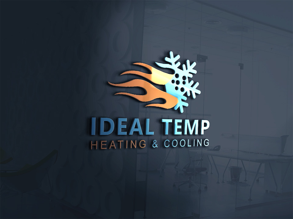 Logo Design by Kamal Hossain - Entry No. 158 in the Logo Design Contest Captivating Logo Design for Ideal Temp.