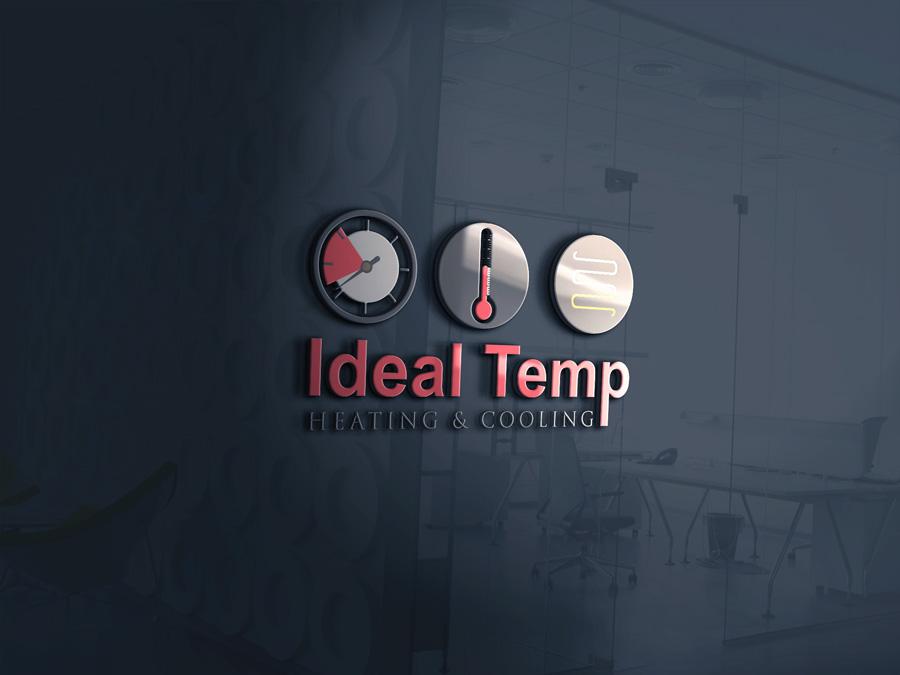 Logo Design by Neon Mirza shakib - Entry No. 162 in the Logo Design Contest Captivating Logo Design for Ideal Temp.