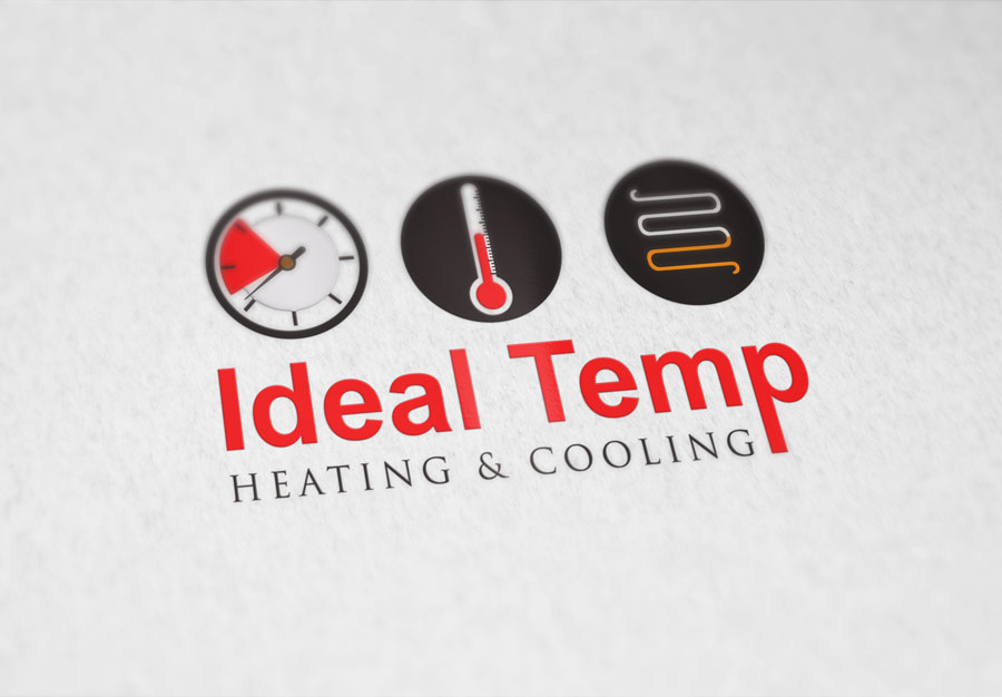 Logo Design by Neon Mirza shakib - Entry No. 163 in the Logo Design Contest Captivating Logo Design for Ideal Temp.