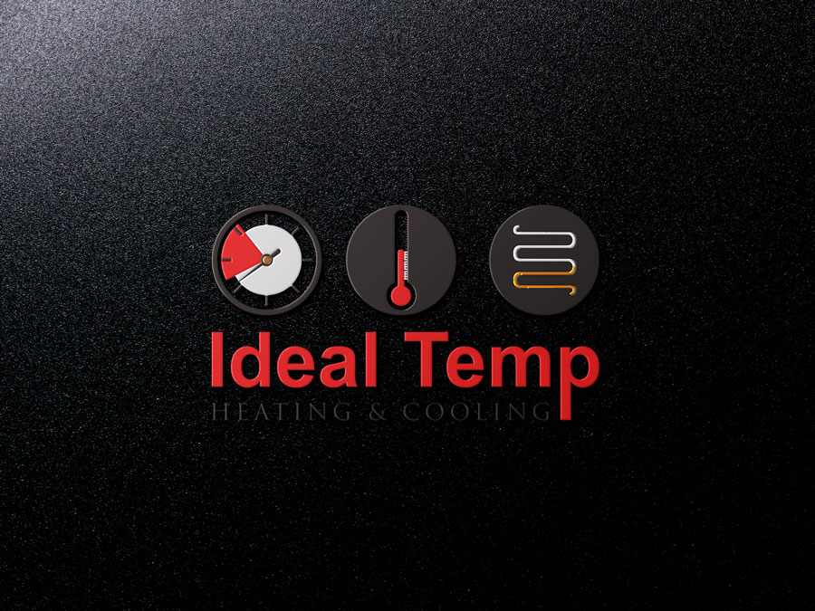 Logo Design by Neon Mirza shakib - Entry No. 164 in the Logo Design Contest Captivating Logo Design for Ideal Temp.