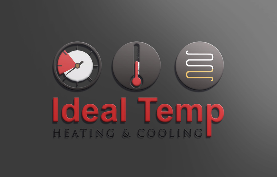 Logo Design by Neon Mirza shakib - Entry No. 165 in the Logo Design Contest Captivating Logo Design for Ideal Temp.