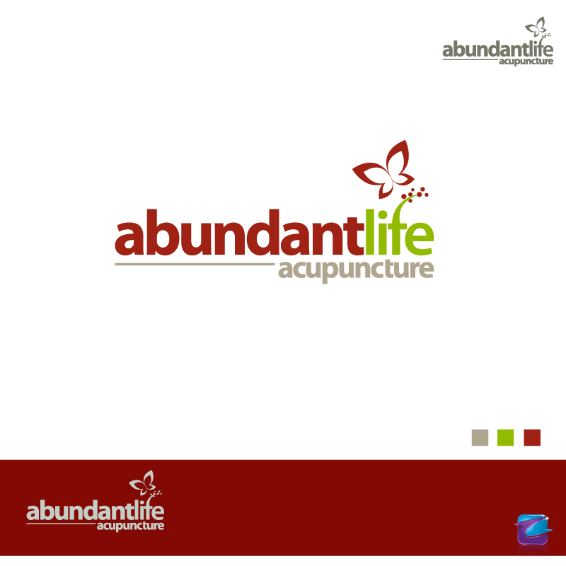 Logo Design by zesthar - Entry No. 129 in the Logo Design Contest abundant life acupuncture.