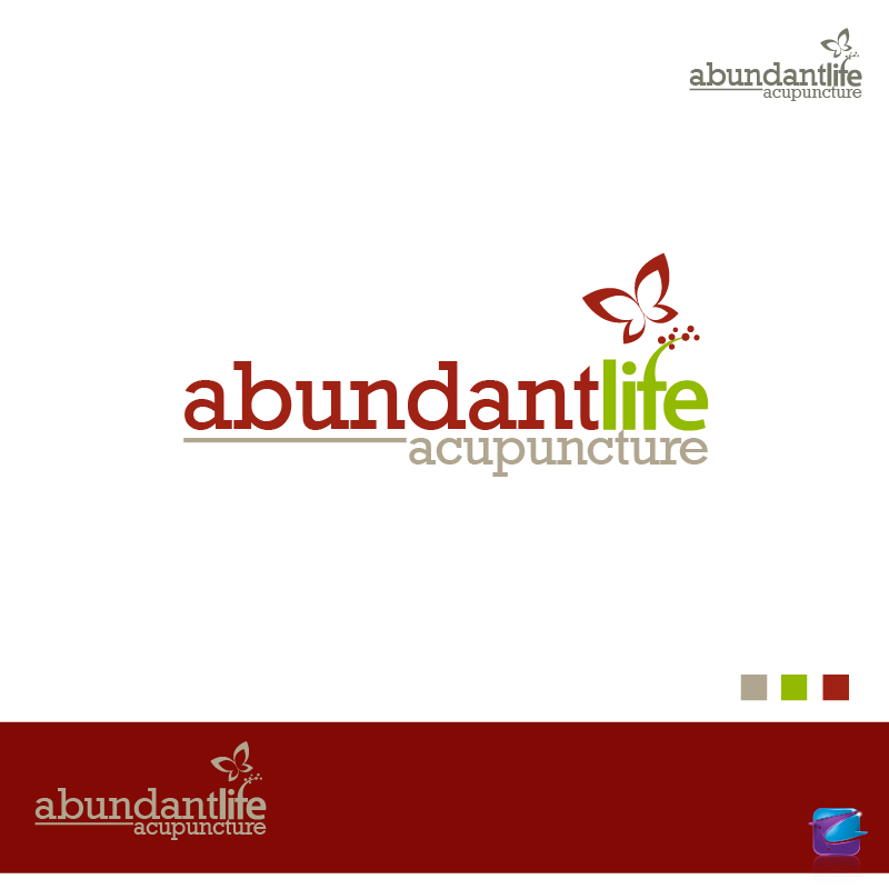 Logo Design by zesthar - Entry No. 130 in the Logo Design Contest abundant life acupuncture.