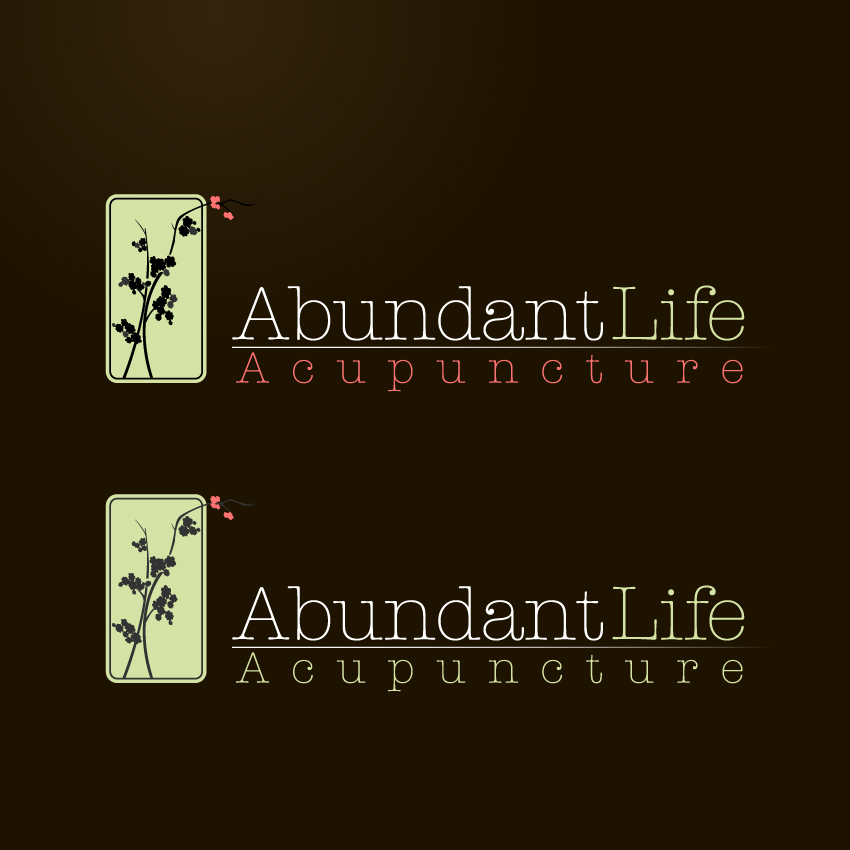 Logo Design by trav - Entry No. 141 in the Logo Design Contest abundant life acupuncture.