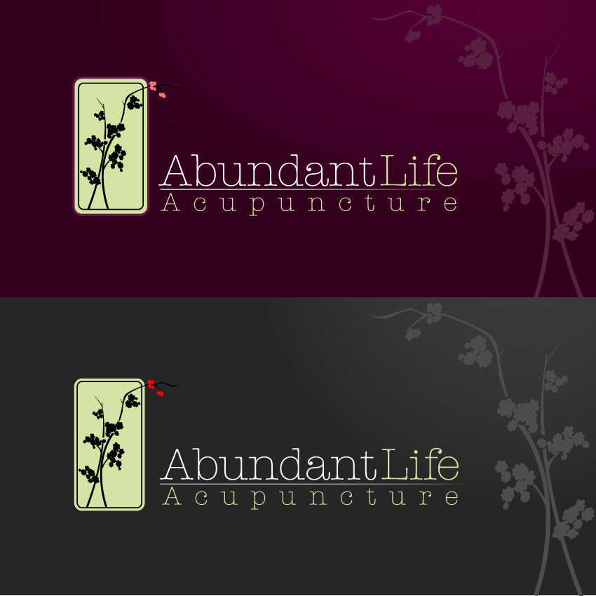 Logo Design by trav - Entry No. 144 in the Logo Design Contest abundant life acupuncture.