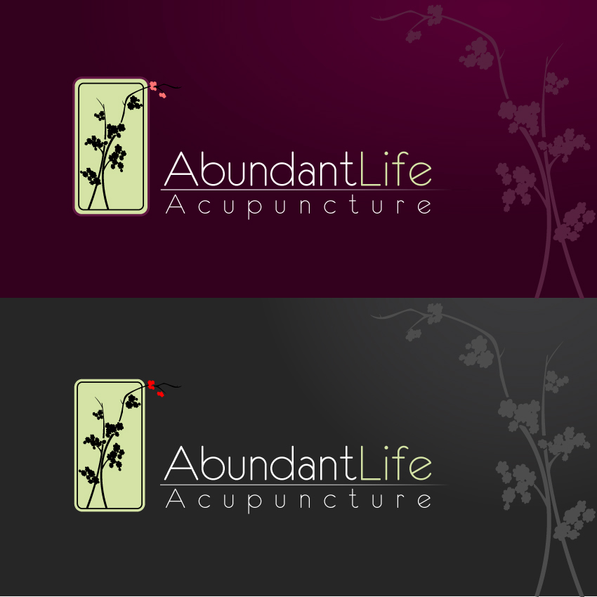 Logo Design by trav - Entry No. 146 in the Logo Design Contest abundant life acupuncture.