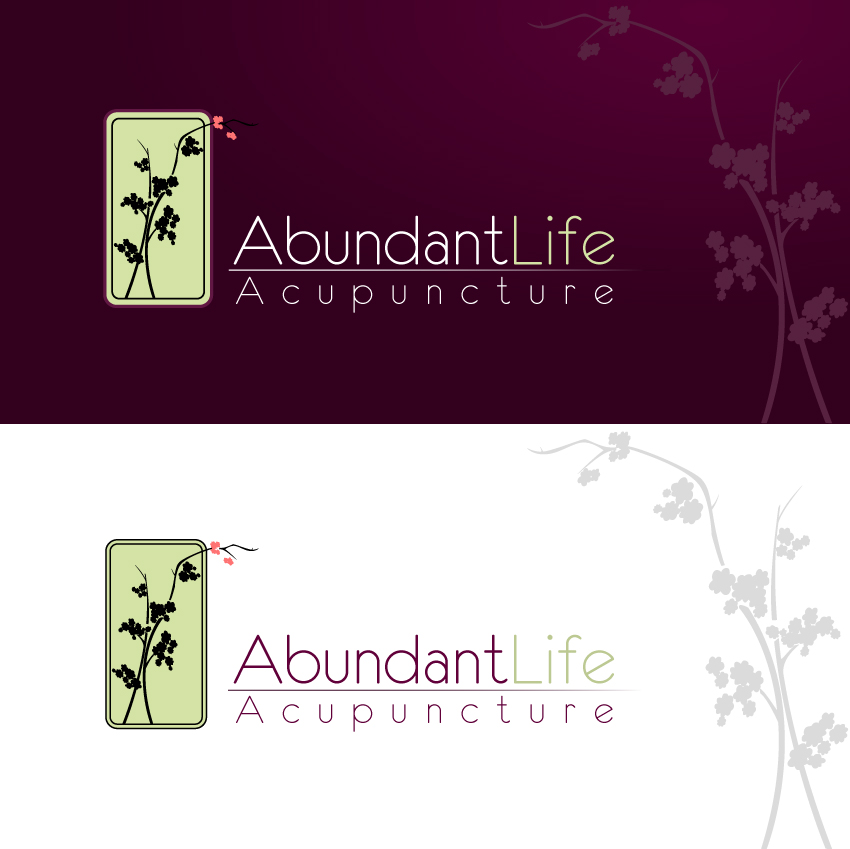 Logo Design by trav - Entry No. 147 in the Logo Design Contest abundant life acupuncture.