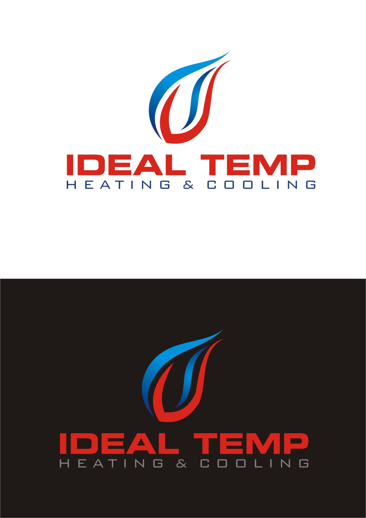 Logo Design by Lynx Graphics - Entry No. 240 in the Logo Design Contest Captivating Logo Design for Ideal Temp.