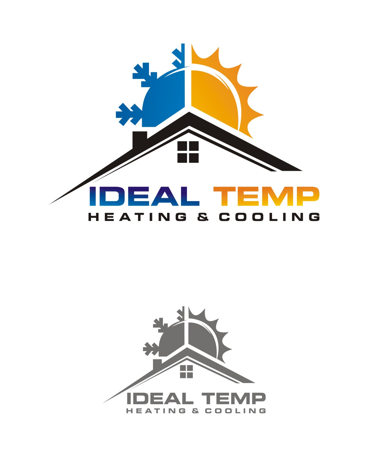 Logo Design by Lynx Graphics - Entry No. 241 in the Logo Design Contest Captivating Logo Design for Ideal Temp.