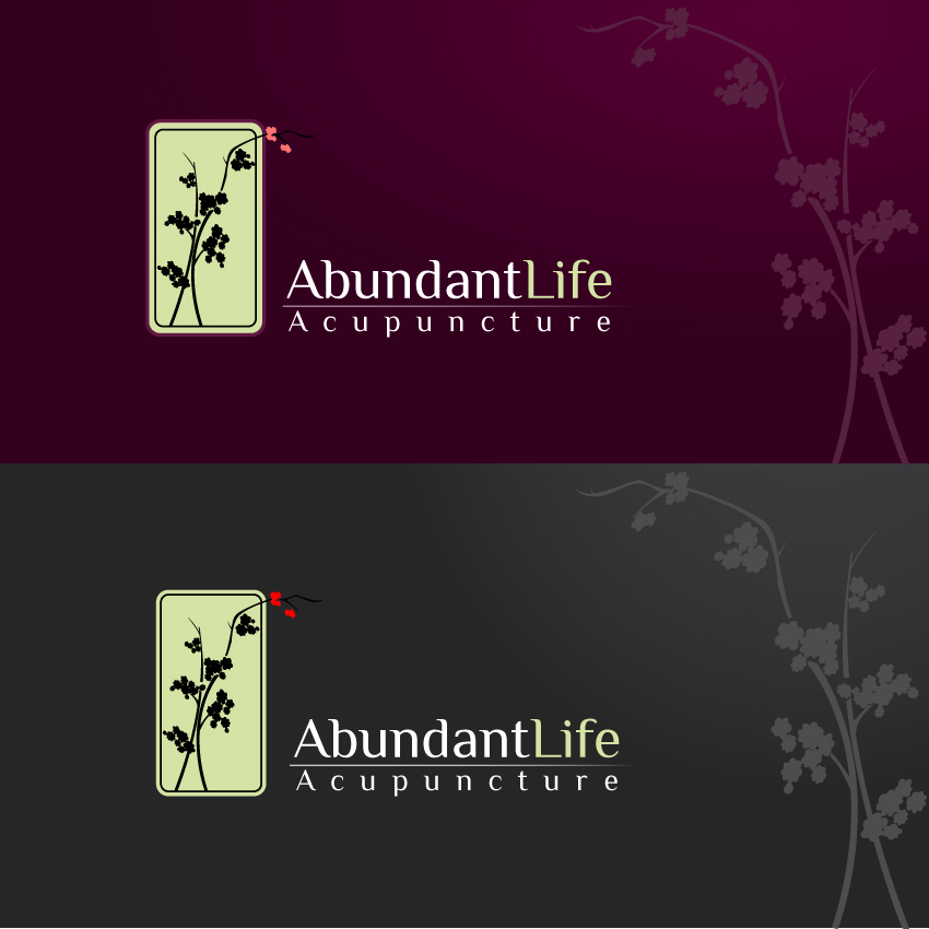 Logo Design by trav - Entry No. 149 in the Logo Design Contest abundant life acupuncture.