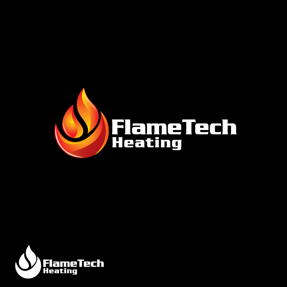 Logo Design by dewaaaa - Entry No. 1 in the Logo Design Contest FlameTech Heating.