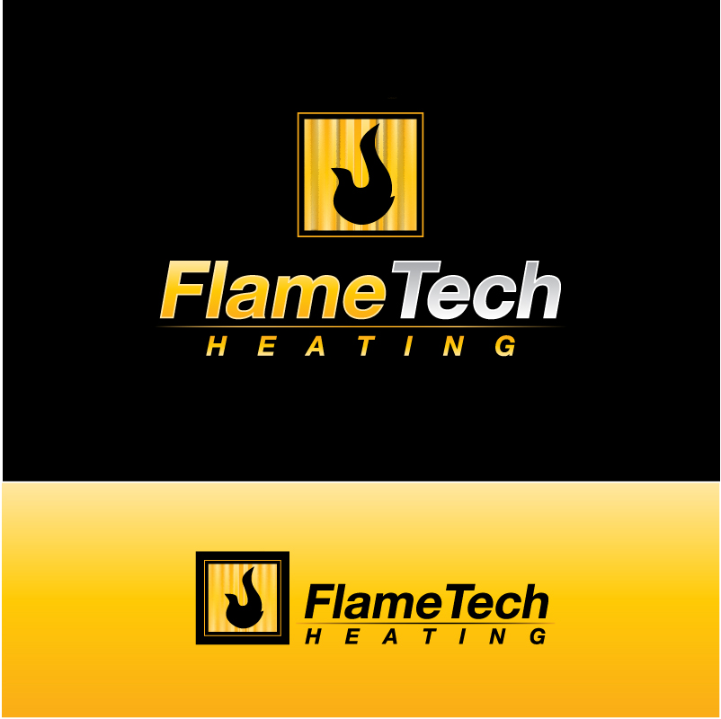 Logo Design by trav - Entry No. 10 in the Logo Design Contest FlameTech Heating.