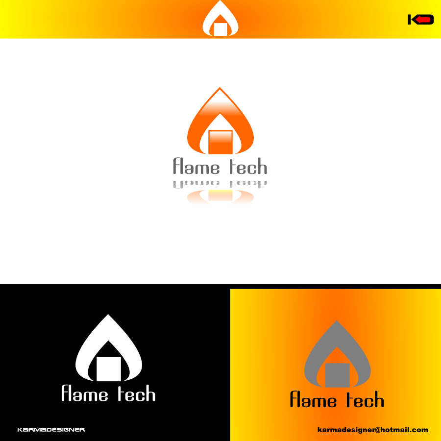 Logo Design by karmadesigner - Entry No. 21 in the Logo Design Contest FlameTech Heating.