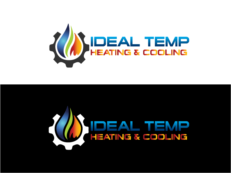 Logo Design by Private User - Entry No. 261 in the Logo Design Contest Captivating Logo Design for Ideal Temp.