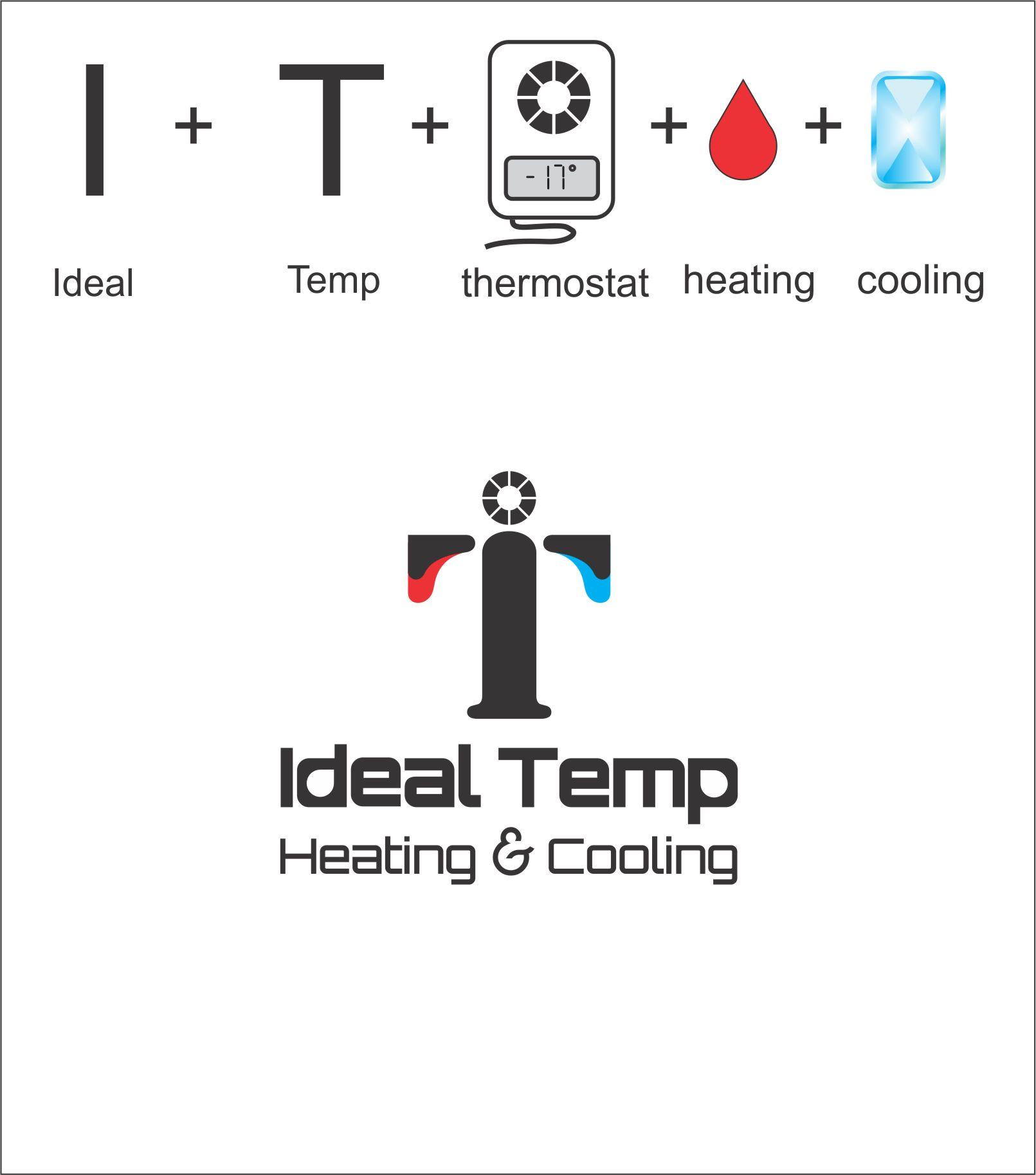 Logo Design by Nikola Kapunac - Entry No. 265 in the Logo Design Contest Captivating Logo Design for Ideal Temp.
