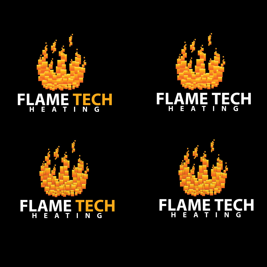 Logo Design by Ricky Frutos - Entry No. 31 in the Logo Design Contest FlameTech Heating.
