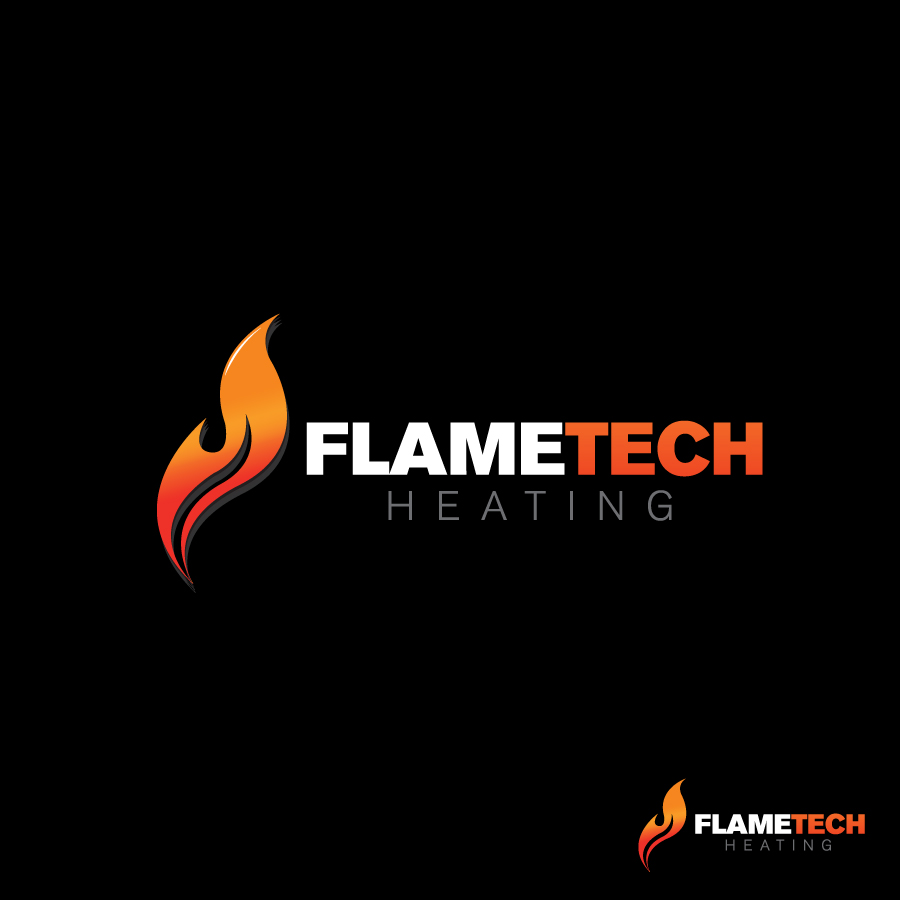Logo Design by rockpinoy - Entry No. 40 in the Logo Design Contest FlameTech Heating.