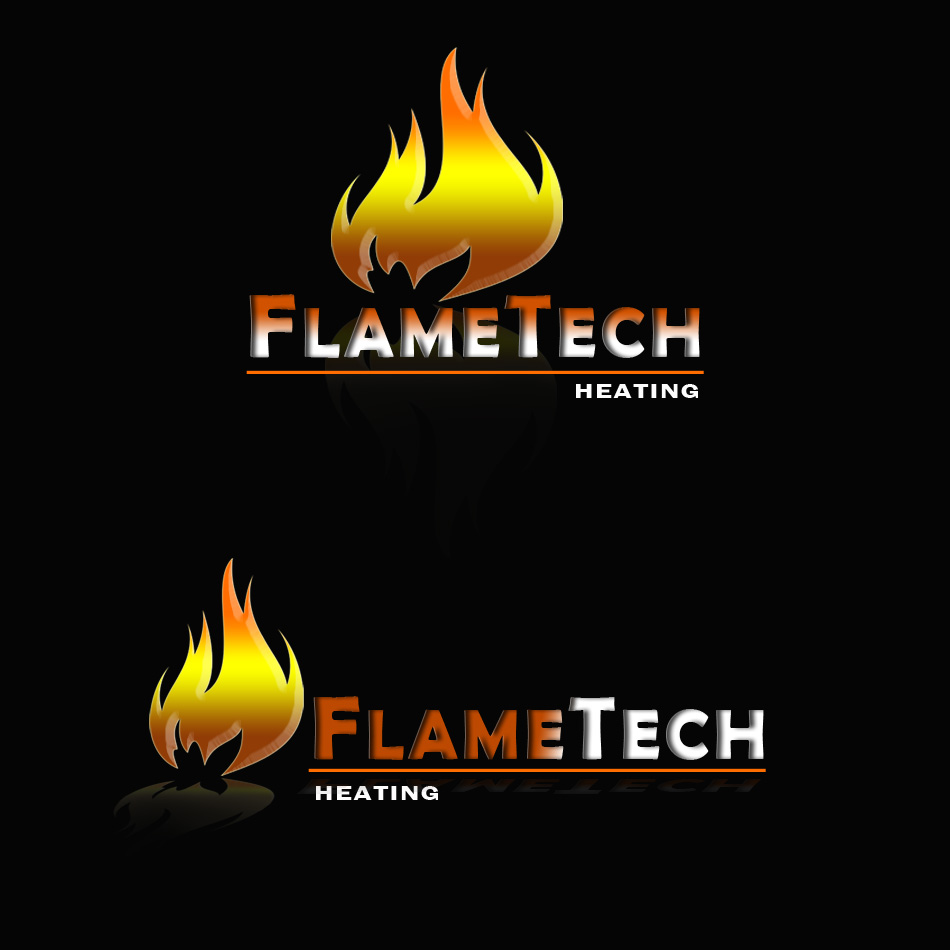 Logo Design by brandukar - Entry No. 41 in the Logo Design Contest FlameTech Heating.