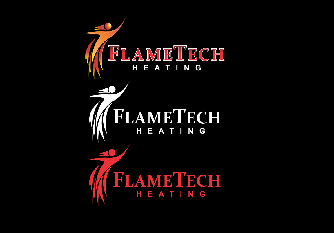 Logo Design by moisesf - Entry No. 46 in the Logo Design Contest FlameTech Heating.
