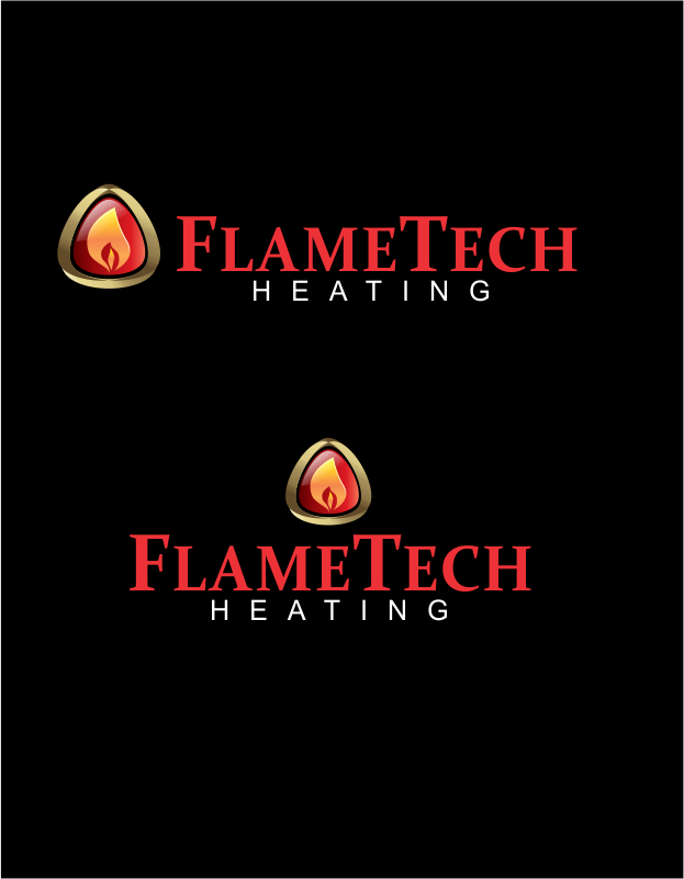 Logo Design by moisesf - Entry No. 50 in the Logo Design Contest FlameTech Heating.