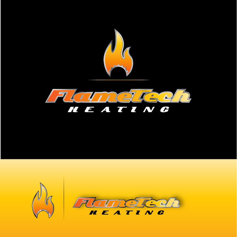 Logo Design by trav - Entry No. 51 in the Logo Design Contest FlameTech Heating.