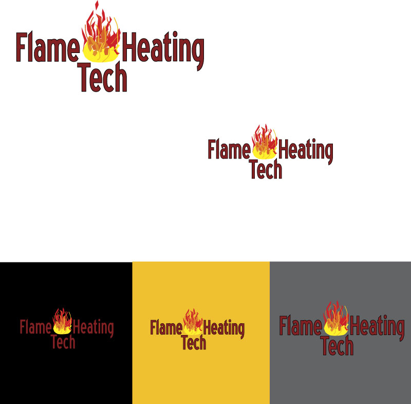 Logo Design by designabby - Entry No. 62 in the Logo Design Contest FlameTech Heating.