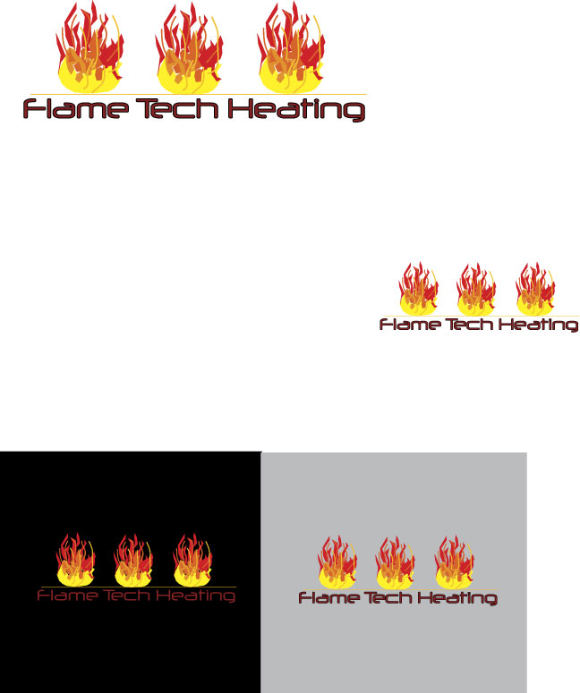 Logo Design by designabby - Entry No. 63 in the Logo Design Contest FlameTech Heating.