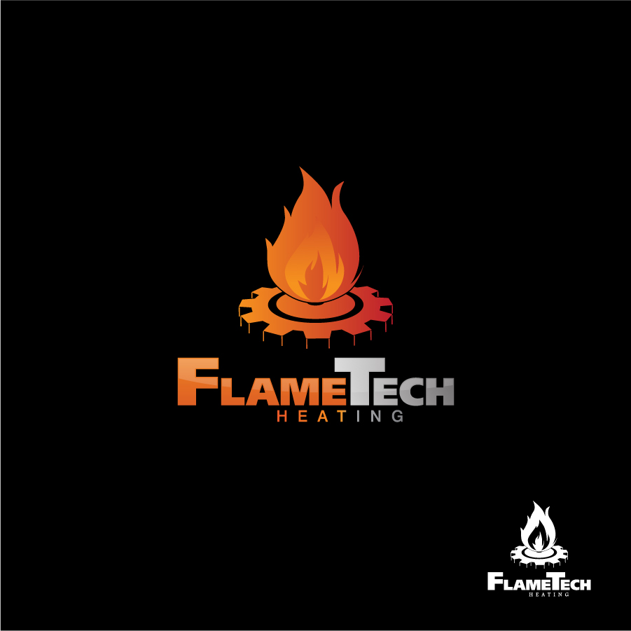 Logo Design by a-m-b-i-e-n-t - Entry No. 91 in the Logo Design Contest FlameTech Heating.