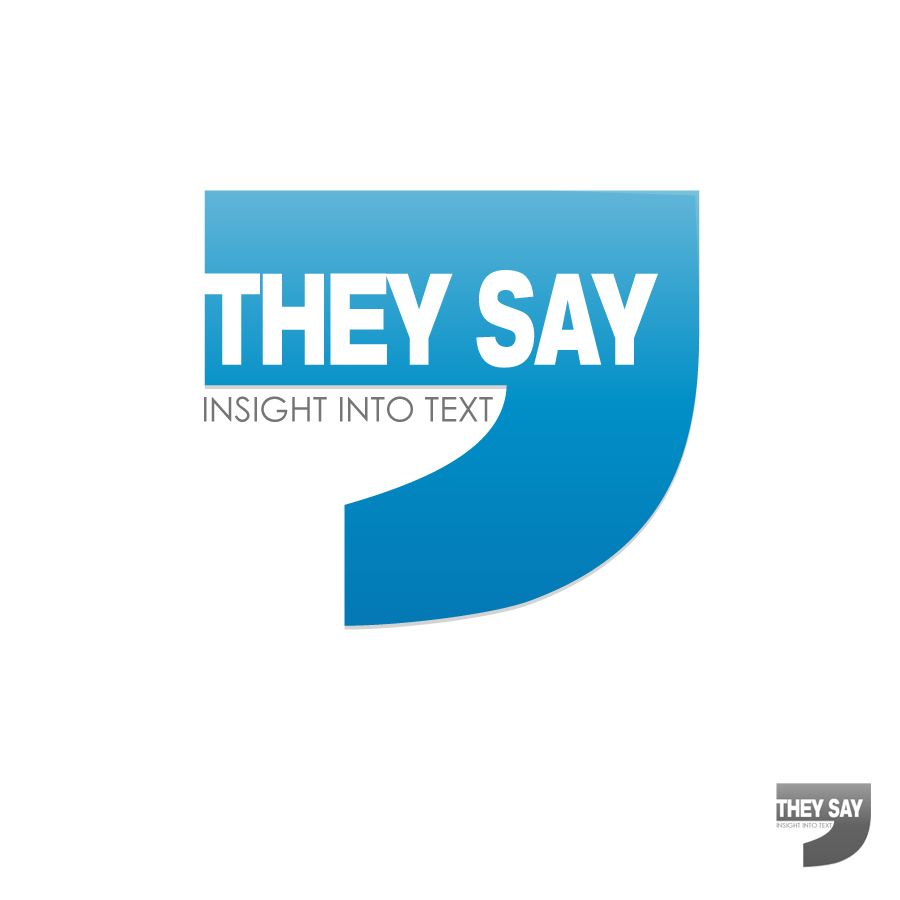 Logo Design by JoshuaCaleb - Entry No. 3 in the Logo Design Contest TheySay - Insight Into Text.