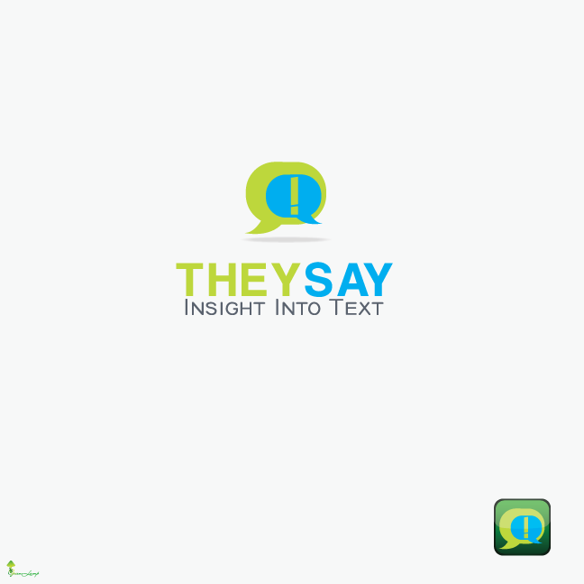 Logo Design by Private User - Entry No. 10 in the Logo Design Contest TheySay - Insight Into Text.