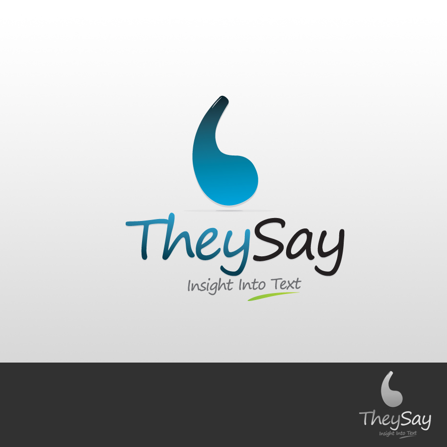 Logo Design by rockpinoy - Entry No. 13 in the Logo Design Contest TheySay - Insight Into Text.