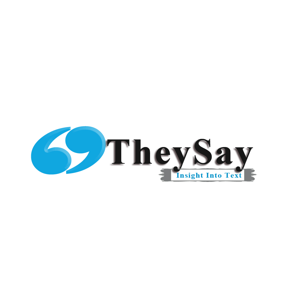 Logo Design by brandukar - Entry No. 14 in the Logo Design Contest TheySay - Insight Into Text.
