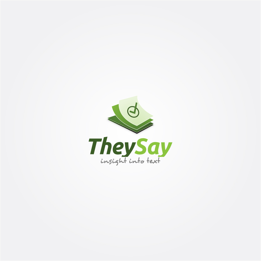 Logo Design by Alpar David - Entry No. 16 in the Logo Design Contest TheySay - Insight Into Text.