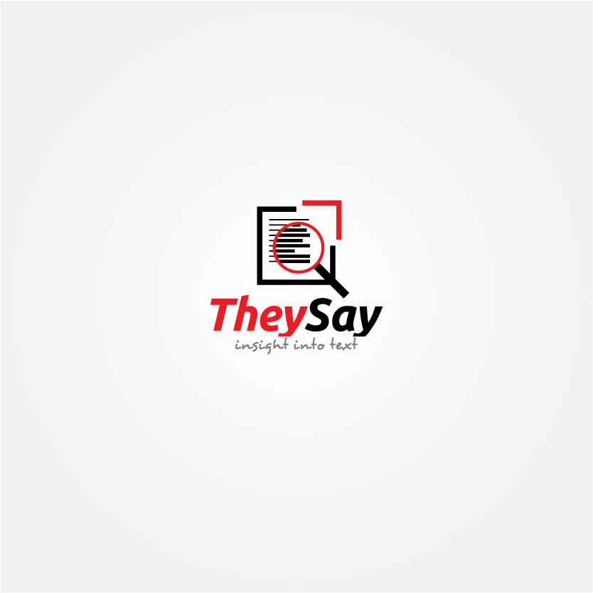 Logo Design by Alpar David - Entry No. 17 in the Logo Design Contest TheySay - Insight Into Text.