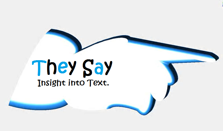 Logo Design by VAC ATV - Entry No. 19 in the Logo Design Contest TheySay - Insight Into Text.
