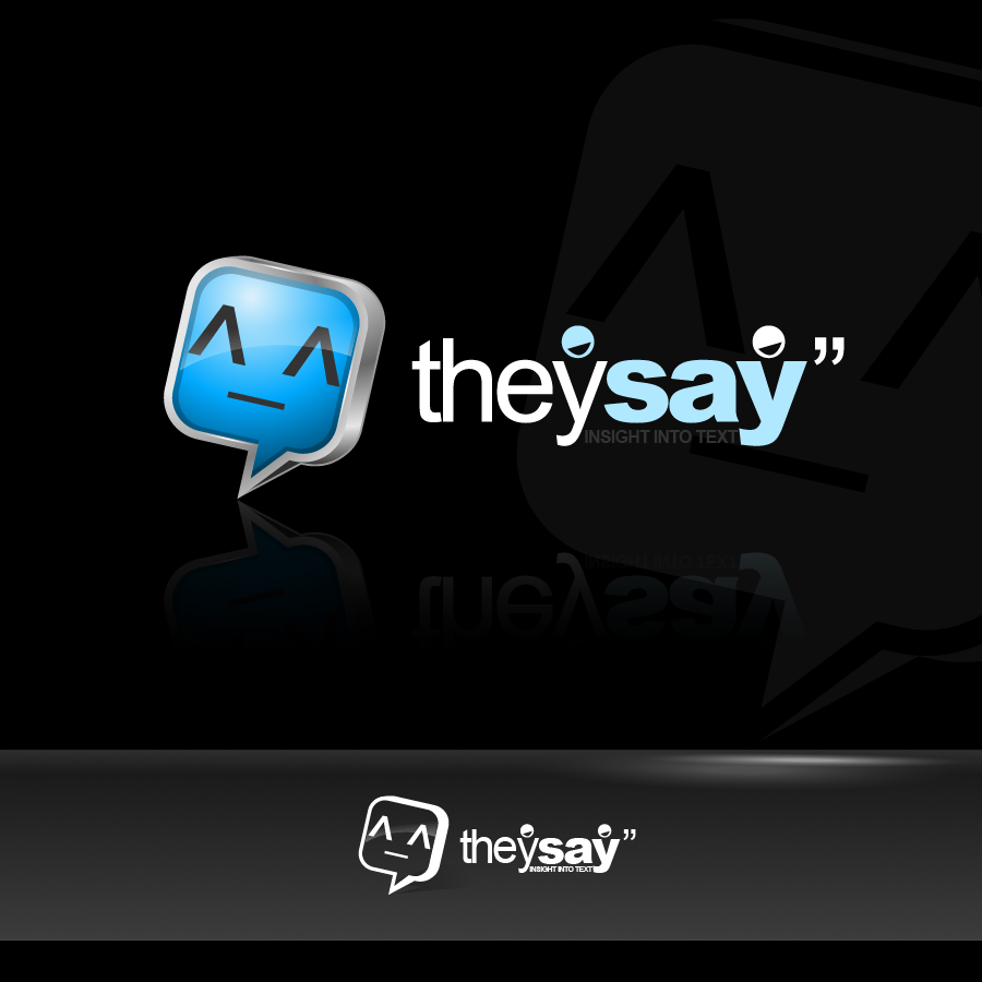 Logo Design by zesthar - Entry No. 29 in the Logo Design Contest TheySay - Insight Into Text.