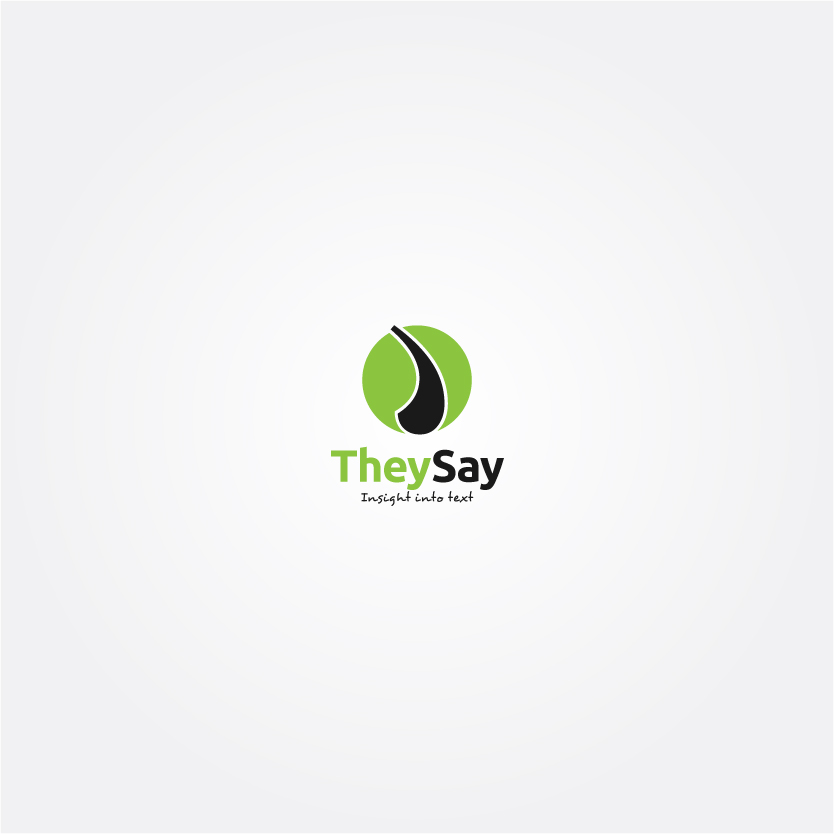 Logo Design by Alpar David - Entry No. 30 in the Logo Design Contest TheySay - Insight Into Text.