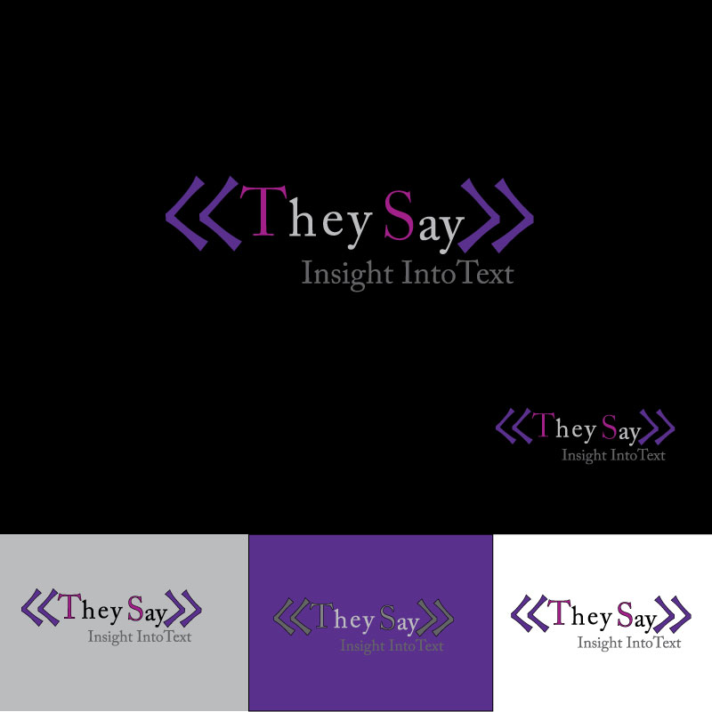Logo Design by designabby - Entry No. 41 in the Logo Design Contest TheySay - Insight Into Text.